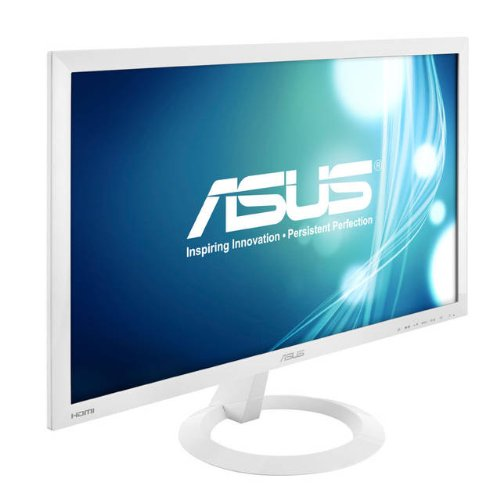 Asus Vx238H-W 23 Inch Widescreen 80,000,000:1 1Ms Vga/Hdmi Led Lcd Monitor, W/ Speakers (White) (Vx238H-W)