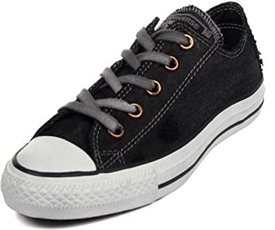 Converse Mens Fashion Sneakers Size 8.5 M 142207C Ct Ox Distressed Black Canvas