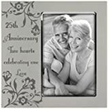 Malden 25th Anniversary Two Hearts Celebrating one Love Frame, 4 by 6-Inch