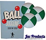 Jac Products 3 120G Original Thud Juggling Balls Green/White With 24 Page Juggling Book