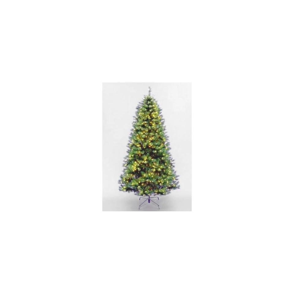 National Tree Company LEX1 300 75 7.5 Foot Lexington Fir Hinged Tree with 650 Clear Lights