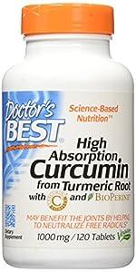 Doctor'S Best Best Curcumin C3 Complex 1,000Mg, 120 Tablet