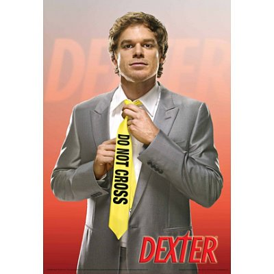 Dexter Poster Do Not Cross Tie Michael Hall, 24x36 Collections Poster Print, 24x36 Collections Poster Print, 24x36
