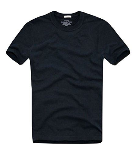 [T&Mates Summer Men's Short Sleeve Tee Solid Color Blank Cotton T-shirt (X-Large, 6882R-Darkblue)] (Xxl Santa Suits For Sale)