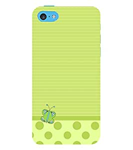 Butterfly Lines 3D Hard Polycarbonate Designer Back Case Cover for Apple iPhone 5C