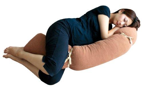 ラーフェンズ Rafens プレママピロー/自分の体の形に変えられる3D抱き枕(ブラウン)