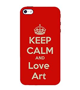 99Sublimation Nice Quote On Keep Carm 3D Hard Polycarbonate Back Case Cover for Apple iPhone SE