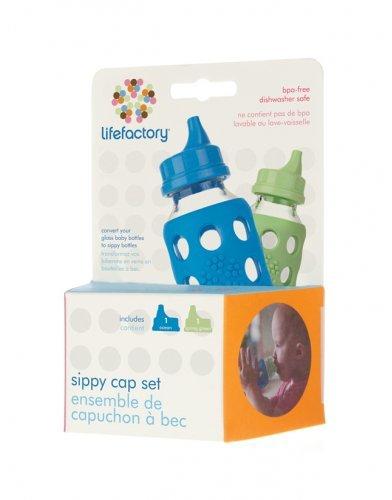 Lifefactory 135002 Sippy Caps, Ocean/Spring Green