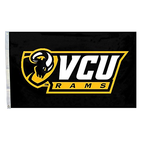 Melon Seeds NCAA Team Logo Vcu Rams Flag 3*5 Foot (Commonwealth Games Costumes)