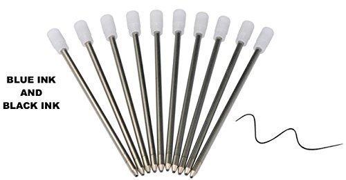 JER Supplies Lot de 20recharges d'encre noire pour stylo à bille rempli de cristaux Swarovski Elements