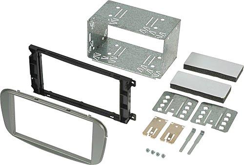 2DIN-Einbauset-Set-Radioblende-Einbaurahmen-Metall-Einbauschacht-Kfig-fr-FORD-Ford-Mondeo-BA7-2007-Ford-Focus-DB3-022008-112010-Ford-S-MAX-WA6-2007-Ford-C-MAX-DM2-2007-112010-nach-Austausch-des-werkse