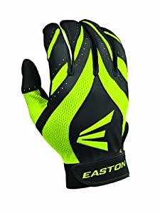 Easton Youth Synergy II Fastpitch Batting Gloves (Small, Black/Optic)