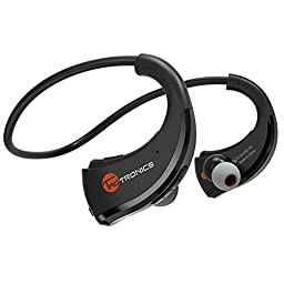 TaoTronics Bluetooth Headphones, TaoTronics Bluetooth 4.1 Wireless Headphones Stereo Sports Earbuds - Sweatproof In-Ear Headsets (aptX, CVC 6.0 Noise-Cancelling)