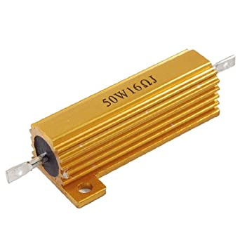 Chasis Mounted 50W 16 Ohm 5% Aluminum Case Wirewound Resistor: Single