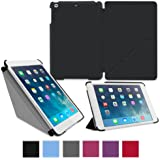 roocase iPad Mini Case - Slim Shell Origami Folio Case Smart Cover for Apple iPad Mini 3 (2014) Mini 2 Retina Display (2013) Mini 1 (2012 Edition), BLACK - Auto Sleep/Wake Feature