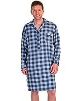 Homme Haigman pur 100% coton brossé chaud 7394 Chemise de nuit de nuit