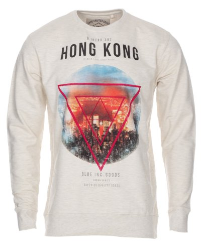 Men's Blue Inc Stone Marl Hong Kong Sweatshirt XS