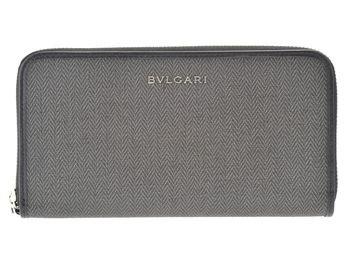 BVLGARI 32587 WEEKEND  ブルガリ ラウンドファスナー長財布  ブラック
