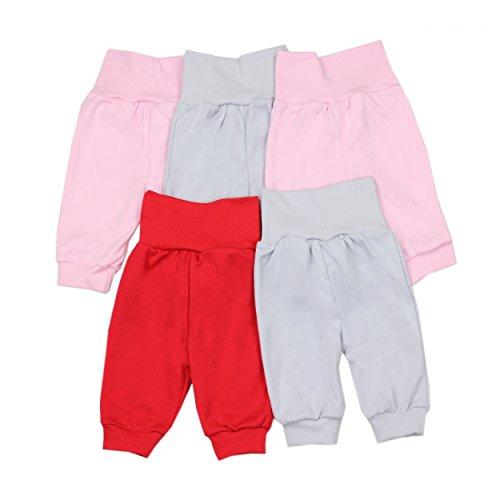 Baby Pumphose Basic Jogginghose Mädchen Schlupfhose Jungen Babyhose im 5er Pack, Farbe: Mädchen, Größe: 56
