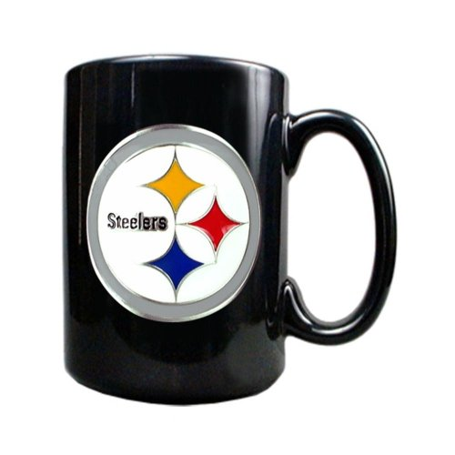 Nfl Pittsburgh Steelers Black Ceramic Mug 15Oz