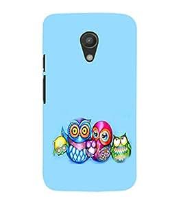 EPICCASE Owl family Mobile Back Case Cover For Moto G 2nd Gen (Designer Case)