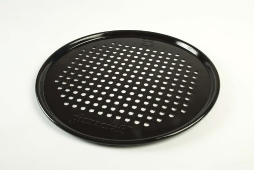 Pizzacraft PC0301 11.75-Inch Round Porcelain-Coated Pizza Pan Crisper/Screen