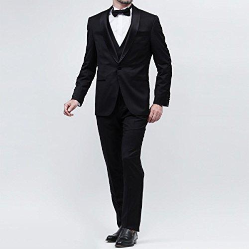 (ボスヒューゴボス) BOSS HUGOBOSS スリーピーススーツ 46サイズ BLACK T-HEWARD/GOLGWYN [並行輸入品]