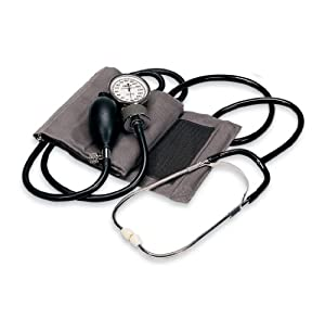 Omron Home Manual Blood Pressure Kit, Gray