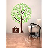 WALLMANTRA The Money Tree Wall Decal Wall Sticker : Size XL(30x45) Inches