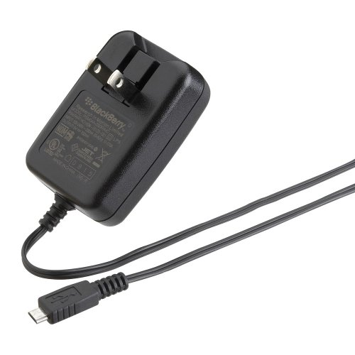 BlackBerry Folding Blade Micro Charger for BlackBerry 8900, Storm 9530, Tour 9630, Torch 9800 (Black)