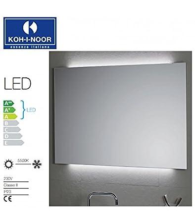 Koh-I-Noor L45912 Specchio Illuminazione Ambiente LED 100X, Cromo