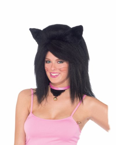 Feline Fantasy Cat Ear Costume Wig Adult: Black