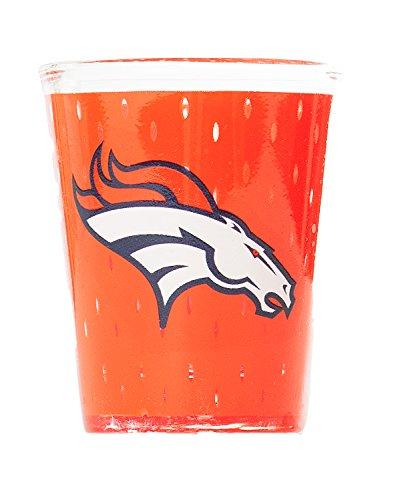 NFL Denver Broncos Premium Heavy Base 2.0 oz Colored Shot Glass