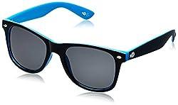 Buzz Wayfarer UV Protected Unisex Sunglasses (Black) (BES-1041 COL104-105)