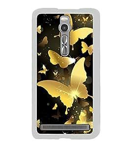 Golden Butterflies 2D Hard Polycarbonate Designer Back Case Cover for Asus Zenfone 2 ZE551ML