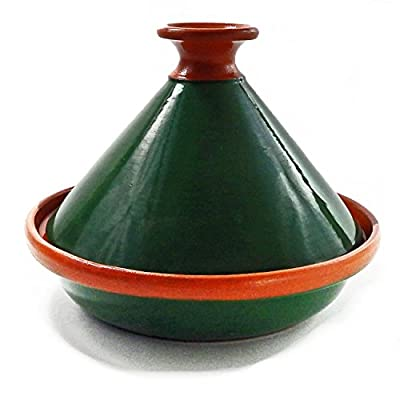 Le Souk Ceramique CT-GRN-22 Cookable Tagine, 9-Inch, Green/Emerald by Le Souk Ceramique