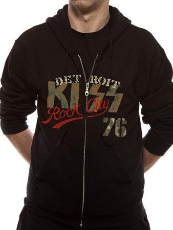KISS -Detroit Rock- men's black zipped hoodie (Small)