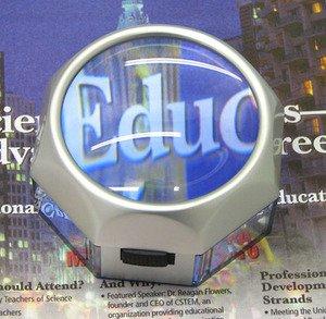 Seoh Magnifier 5X Illuminated Led Transparent Sides
