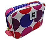 Estee Lauder Lisa Perry Pink Red Blue Purple White Cosmetic MakeUp Bag