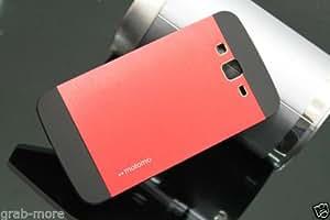 Grabmore Motomo Metal Back Cover Case For Samsung Galaxy Grand 2 Grand2 G7106 G7102 - Red