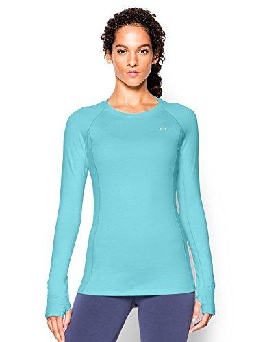 Under Armour Women's Coldgear Cozy Crew Shirt, Veneer/Metallic Silver, X-Small