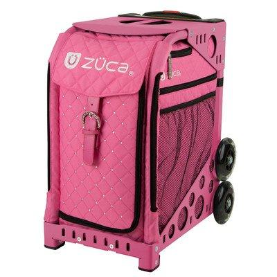 ZUCA-Bag-Pink-Hot-Insert-Pink-Frame-w-Flashing-Wheels