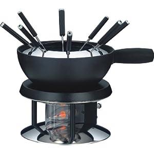 fondue acero inox negro