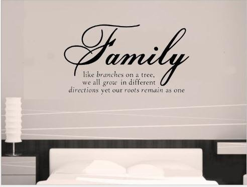 Family Like Branches on a Tree,we All Grow in Different Directions Yet Our Roots Remain As One Quotes and Sayings Wall Decal Removable Wall Sticker for Home Decor LUCKKYY (Wall Decals Quotes One Direction compare prices)