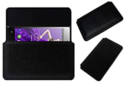 Acm Horizontal Case For Zen Admire Sxy Cover Holder Black