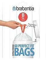 Brabantia 348969 Distributeur de Sacs Poubelles Poignées Coulissantes 5 L Blanc