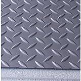 G-Floor Diamond Tread Pattern Slate Gray 9' x 20' Roll-Out Garage Flooring