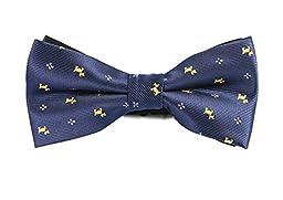 Gazebo Green Pre-Tied Classic Patterned Bow Tie (Navy Blue Scottie Dogs)