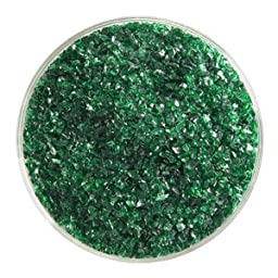 5 Oz Kelly Green Transparent Medium Frit - 90 Coe