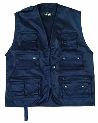 mil tec fishing vest navy blue clothing